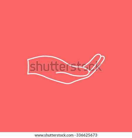 Donation Hand Sign Icon Charity Endowment Stock Vector ...