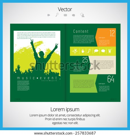 Open Magazine, vector Illustration