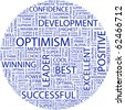 OPTIMISM. Word collage on white background. Illustration with different association terms. - stock photo