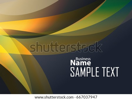 orange abstract template for card or banner metal background with waves and reflections business