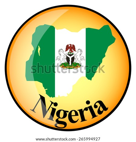 orange button with the image maps of Nigeria in the form of national flag