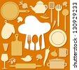 orange cook pattern - stock vector