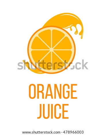 orange fruit label sticker vector illustration stock Orange Juice Carton orange juice company logos