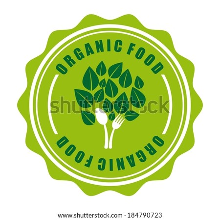 Organic food design over white background, vector illustration