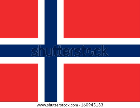 original and simple Norway flag isolated vector in official colors and Proportion Correctly