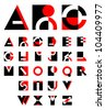 original geometric alphabet - stock vector