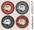 Original Smoked Bacon Seal / Mark - stock vector