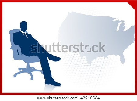 Ceo On World Map Background Stock Vector Shutterstock - Us map vector ai