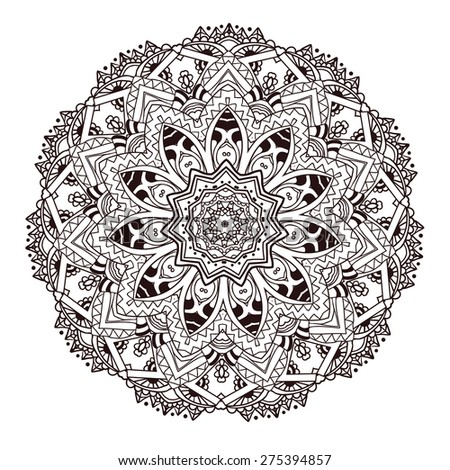 Vector Round Abstract Circle Mandala Style Stock Vector