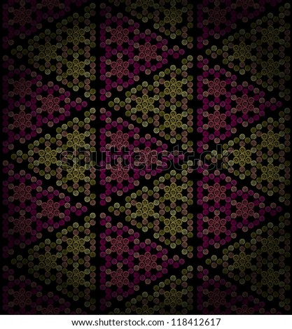 Ornamental colorful seamless pattern. Endless golden antique texture ...