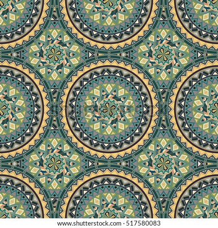 Ornate floral seamless texture, endless pattern with vintage mandala elements. Can be used for wallpaper, pattern fills, web page background, surface textures.Islam, Arabic, Indian, ottoman motifs.