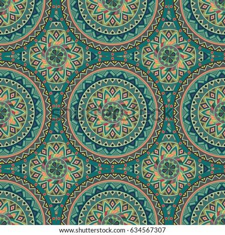 Seamless Pattern Mandala Stock Vector 396889360 Shutterstock