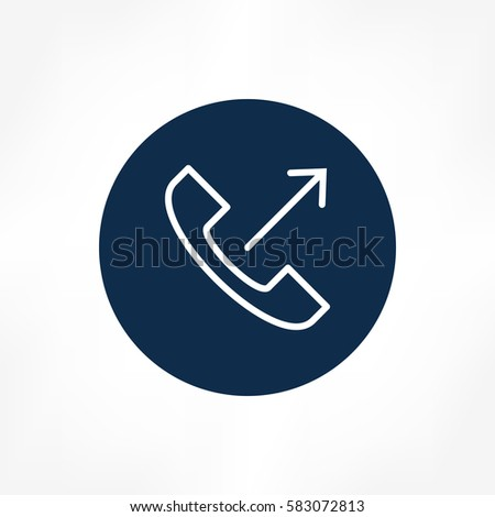 Outgoing Call Icon Stock Vector 590139254 - Shutterstock