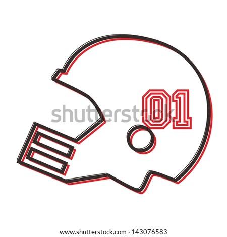 College Football Symbols Football Helmet Symbol Stock