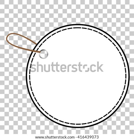 Outline Rounded Blank Tag