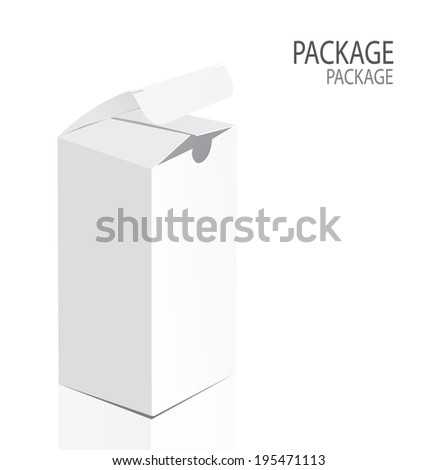 Package white box design 2, vector illustration