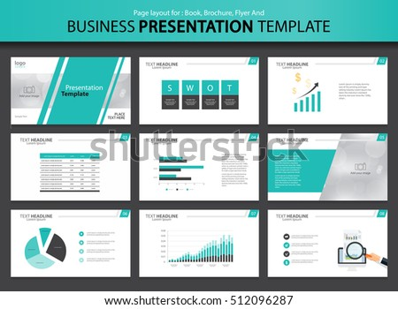 layout design page layout design template presentation brochure stock vector
