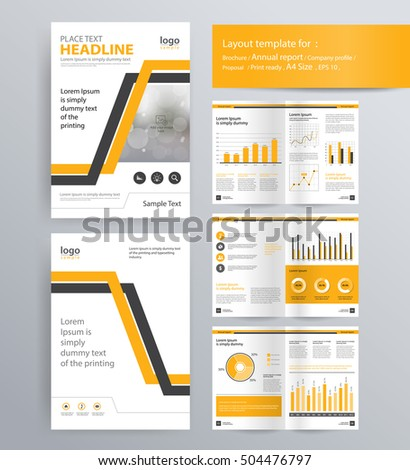 Page Layout Company Profile Annual Report Vector 508326646 – Sample Annual Report of a Company