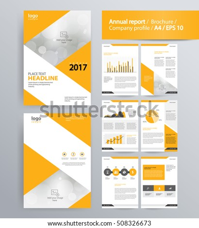 Page layout company profile annual report stock vector for Company profile brochure template