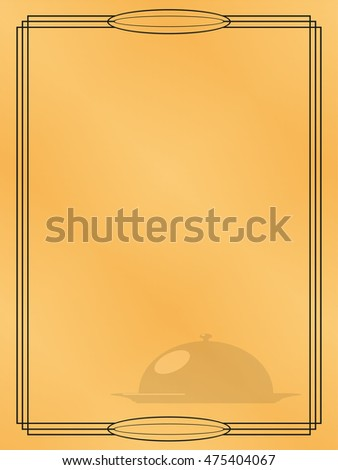 Page menu in the restaurant. Vector illustration.