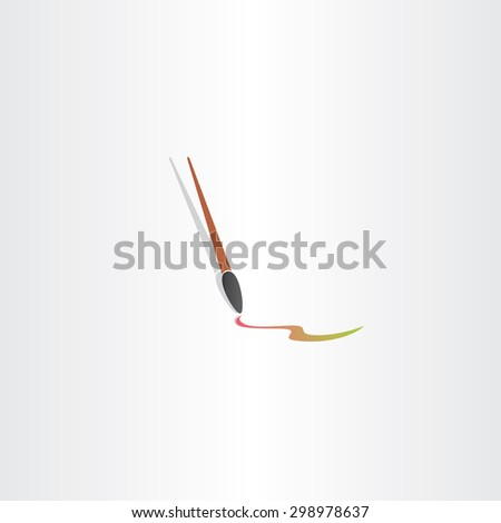 paint brush icon color vector design emblem