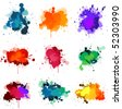 Paint splats - stock photo