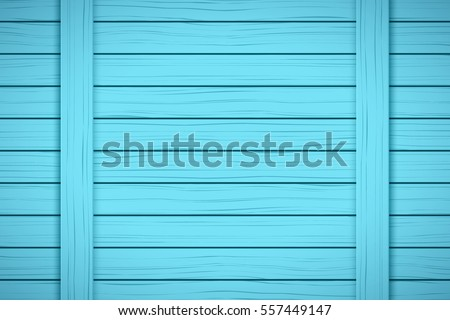 Painted Wood Background. Blue color. Vector Illustration