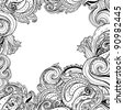 Paisley patterned frame, trendy modern wallpaper or textile  background - stock vector