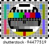 PAL TV test signal - stock photo