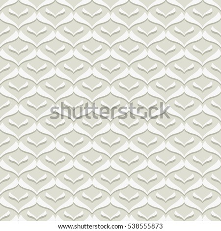 Pale Striped Smooth Zig Zag Seamless Pattern