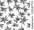Palm tree leaf seamless pattern - stock vector
