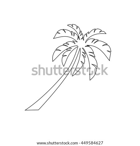 outline design view images nature landscape stock vector