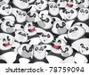 Pandas background pattern - stock vector
