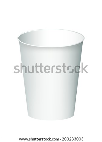 Paper cup isolated on a white