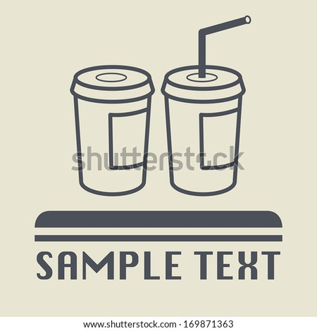 Paper glass icon or sign, vector illustration