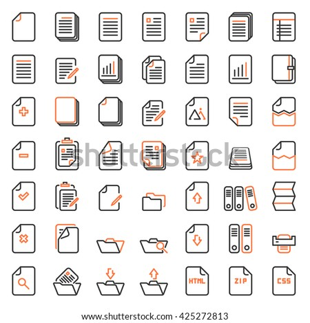 Paper icon, Document icon,Office icon and file icon,Vector EPS10.