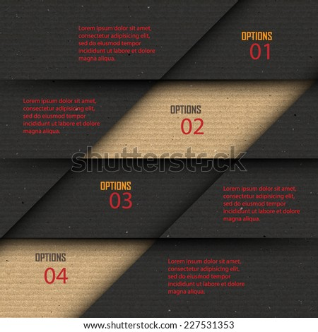 Paper progress steps, Vector design template,infographics design