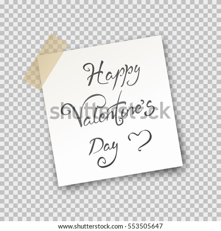 Office Paper Sheet Pin On Sticky Stock Vector   Shutterstock