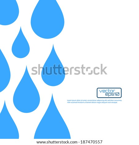 Paper water drop abstract background. Perfect for your business presentations. Vector illustration