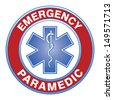 Paramedic Medical Design is an illustration of an emergency paramedic design with star of life medical symbol. - stock photo