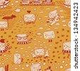 Parcel orange seamless pattern - stock vector