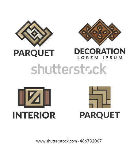 Geometric Vintage Crown Abstract Logo Design Stock Vector