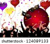 Party time - vector - stock photo