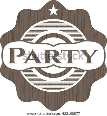 Party wood signboards