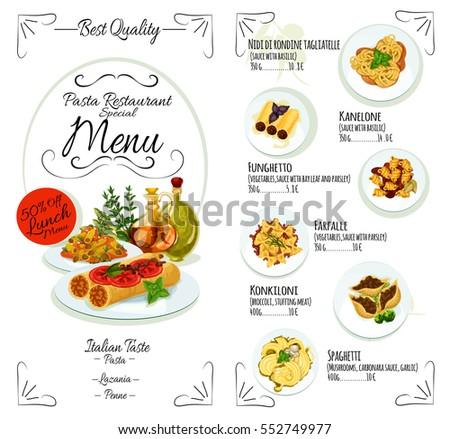 8 types pizza design on light stock vector 500052742 - Italian cuisine menu list ...