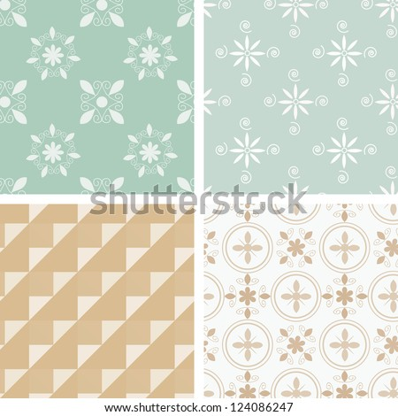 Pastel abstract pattern collection