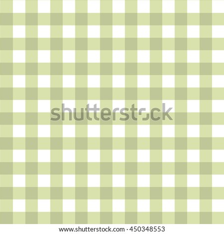 Pastel Green Checkered Pattern. Seamless Gingham Tablecloth Fabric  Background.Plaid Kitchen Vector Seamless Pattern