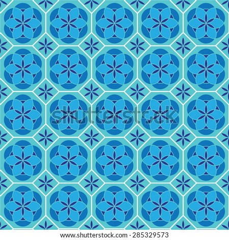 pattern in mosaic Vector background illustration  ceramic tiles