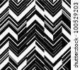 Pattern in zigzag - black and white - stock photo