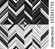 Pattern zigzag in mirror - stock photo